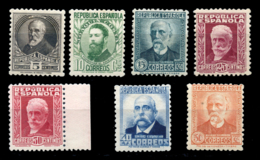 España. ** 655/61. Personajes. Centrajes Diversos. Cat. 400 €. - 1931-Tegenwoordig: 2de Rep. - ...Juan Carlos I