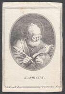Santino/incisione/engraving: S. MARCO EVANGELISTA - E - RB - Religion & Esotericism