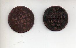 REF MON4  : Lot Old Coin 2 Monnaies AD Usum Belgii Austr. 1788 Et 1778 - ...-1831
