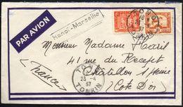 Lettre De Tong (Indochine) Pour La France - 23 Avril 1937- Cachet Hanoi - Marseille - Brieven En Documenten