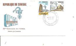 Sénégal - UMOA ( FDC De 1983 à Voir) - Senegal (1960-...)