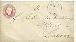 Hannover 1859 Umschlag 1 Groschen  Gelaufen Von Ankum Nach Lingen - Hanover