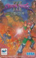 Télécarte JAPON / 110-016 - MANGA - SEGA SATURN - SHINING FORCE 1 - Jeu Video Game - ANIME JAPAN Phonecard - NFS 12138 - BD