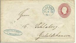 Hannover 1861 Umschlag 1 Groschen  Gelaufen Von Hildesheim Nach Gieboldehausen - Hanover