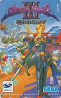 Télécarte JAPON / 110-016 - MANGA - SEGA SATURN - SHINING FORCE 3 - Jeu Video Game - ANIME JAPAN Phonecard - NFS 12140 - BD