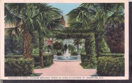 C. Postale - Fountain In Hotel Alcazar - Ponce De Leon In Distance - Circa 1940 - Non Circulee - A1RR2 - St Augustine