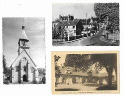 LOT 2 CPSM SEPTEUIL: Rue Condamine - L'église + 1 CPA Environs De Septeuil: Le Collège De Corbeville Façade Nord - - Septeuil