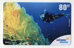 ANTILLES FRANCAISE REF MV CARDS ANTF OT75 PREPAYEE OUTREMER TELECOM PLONGEE SOUS MARINE 80FF Date 2001 - Antilles (Françaises)