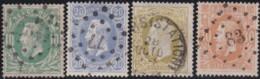 Belgie     .    OBP        .    30/33       .         O      .        Gebruikt  .   /   .   Oblitéré - 1869-1883 Leopoldo II