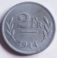 BELGIË:  2 FRANK 1944 KM 133 UNC - 1934-1945: Leopoldo III