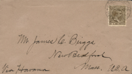 """PUERTO RICO. Ø 112 En Carta A Estados Unidos, El 12/1/1894. Manuscrito """"Vía Havana"""". - Puerto Rico"""
