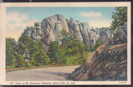 C. Postale - View On Mt. Rushmore Highway - Circa 1930 - Non Circulee - A1RR2 - Mount Rushmore