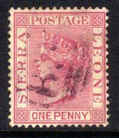 Sierra Leone 1883 QV 1d Rose Carmine Used P 14 CA Crown Wmk SG 24 ( H1135 ) - Sierra Leone (...-1960)