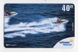 ANTILLES FRANCAISE REF MV CARDS ANTF OT74 PREPAYEE OUTREMER TELECOM JETSKI 40FF Date 2001 - Antilles (Françaises)