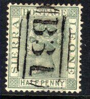Sierra Leone 1884 QV 1/2d Dull Green Used SG 27 ( H544 ) - Sierra Leone (...-1960)