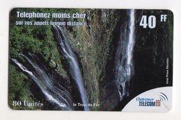 ANTILLES FRANCAISE PREPAYEE OUTREMER TELECOM LE TROU DE FER 40FF - Antilles (Françaises)