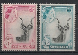 Swaziland - 1961 - N°Yv. 84 Et 90 - Kudu - Neuf Luxe ** / MNH / Postfrisch - Unclassified