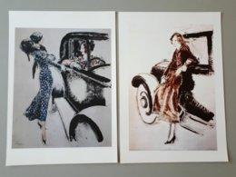 2 Affiches : La Vie Parisienne, Les Belles Dames Et Les Voitures De Luxe & - Affiches