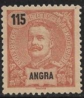 Angra – 1898 King Carlos 115 Réis - Angra