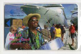 ILES VIERGES BRITANNIQUE CARAIBES CABLE & WIRELESS REF MVCARDS BVI-C3  10$ CRUISESHIP Date 1998 - Vierges (îles)