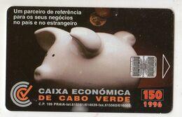 CAP VERT REF MV CARDS CPV-12 150U CAIXA ECONOMICA Année 1996 - Kaapverdische Eilanden