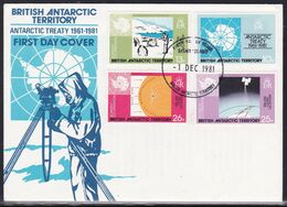 British Antarctic Territory, 1981, FDC - FDC