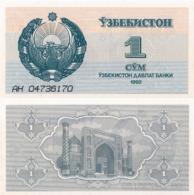 Uzbekistan, 1 Sum, 1992, P61, UNC - Uzbekistan