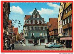 Aalen - Wurttemberg - Hautpstrabe - Renault Dauphine Bleu - Germany - Aalen