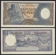 Indonesien - Indonesia 10 Rupiah 1963 Pick 89 UNC (1)     (21150 - Bankbiljetten