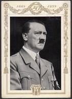 AK NS Militaria Propaganda Karte 3.Reich Hitler 50 Jahre SST (24466 - Militaria
