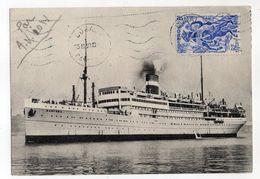 "Bateau --1950-- Paquebot  ""BANFORA"" --Navigation Cyprien Fabre....timbre  Cameroun...cachet.... - Dampfer"