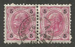 AUSTRIA / TYROL. 1890. KAISERKOPF. 5kr ROSE PAIR. USED KEMATEN Bei INNSBRUCK - Oblitérés