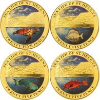 St Helena  4 X 25 Pence 2013 Fish - Saint Helena Island