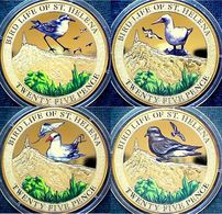 St Helena  4 X 25 Pence 2013 Birds - Saint Helena Island