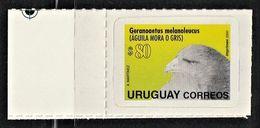 2000 Uruguay Black-chested Buzzard-eagle (80p) Stamp (Self Adhesive) - Eagles & Birds Of Prey