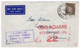 NEW GUINEA / AUSTRALIA -  Cover Posted 15.7.1943 - Field P.O. No. 042 - Port Moresby,  Censored - 962 - Papúa Nueva Guinea