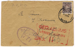 NEW GUINEA / AUSTRALIA -  Cover Posted 13.9.1944 - A.F.P.O. No. 74 - Port Moresby, R.A.A.F. Censor - 963 - Papúa Nueva Guinea