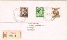 PAPUA NEW GUINEA/ Australia - R-cover WAU Posted 21.6.1952  - 972 - Papúa Nueva Guinea