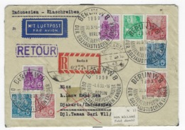 DEUTSCHLAND/ DDR - R-Brief Nach Indonesien Berlin 1.6.59 Mit Einlieferungsschein - 1248 - [6] République Démocratique