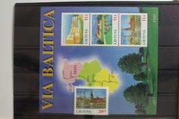 Litauen 577-579, Block 6 Mit 576 ** Postfrisch #SX622 - Litauen