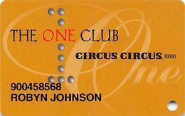 One Club Multi-Casino Slot Card - P662654 Over Mag Stripe - CIRCUS CIRCUS RENO - Casino Cards