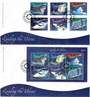 New Zealand 2002 Leading The Waves - Boating Set Of 2 FDC - FDC