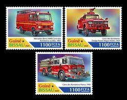 Guinea-Bissau 2020 Mih. 11220/22 Fire Engines MNH ** - Guinea-Bissau