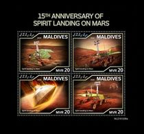 Maldives 2020 Mih. 9046/49 Space. Spirit Landing On Mars MNH ** - Maldives (1965-...)