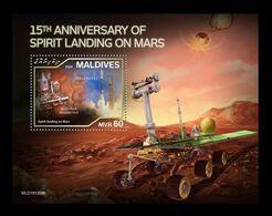 Maldives 2020 Mih. 9050 (Bl.1468) Space. Spirit Landing On Mars MNH ** - Maldives (1965-...)