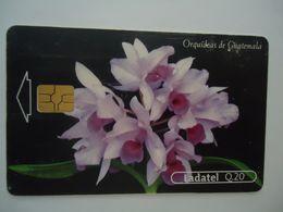 GUATEMALA USED CARDS FLOWERS ORCHIDS - Guatemala