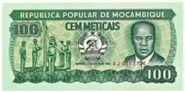 Mozambique - 100 Meticais - 16.06.1983 - P 130.a - Unc. - Serie AJ - Mozambique
