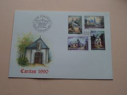 CARITAS 1990 ( Enveloppe ( FDC 304 N° 018839 ) Omslag > Voir Photo Svp ) Luxembourg ! - FDC
