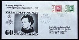 Greenland 1972 - 1982, Cover Jubilee Queen Margrethe II, Kalatdlit Nunat SUKKERTOPPEN 18-11-1982   ( Lot 2101 ) - Groenland