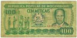 Mozambique - 100 Meticais - 16.06.1989 - P 130.c - Serie AA - Mozambique